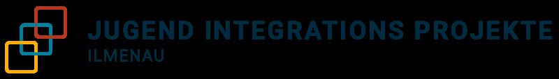 """Logo von JIPI bestehend aus einem Symbol und dem Schriftzug """"Jugend Integrations Projekte Ilmenau"""" und einem Symbol aus drei bunten Quadrate, die ineinander verschachtelt sind."""